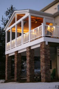 Once the sunsets this porch comes alive !